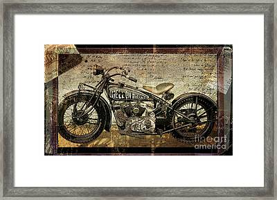 Hell On Wheels Framed Print by Mindy Sommers