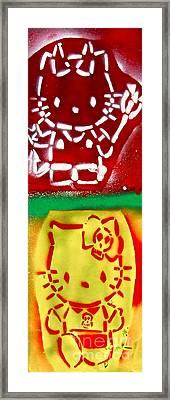 Hello Punk Kitty Framed Print by Tony B Conscious