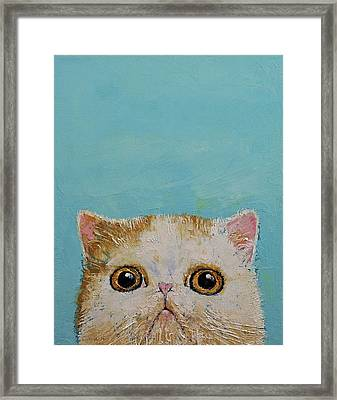 Hello There Framed Print by Michael Creese