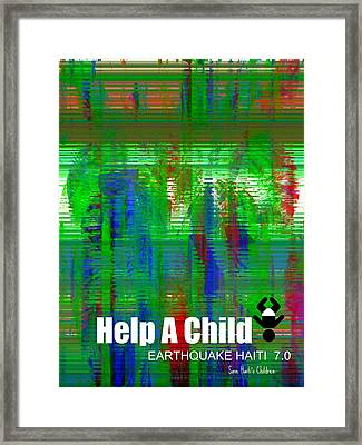 Help Save An Orphan Framed Print by Fania Simon