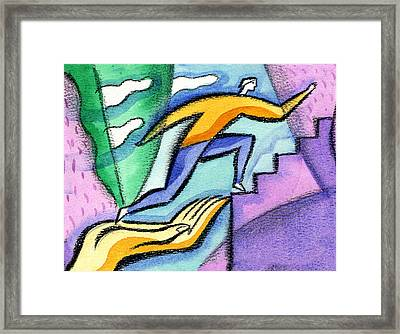 Helping Hand And Career Framed Print by Leon Zernitsky