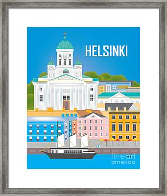 Helsinki, Finland Vertical Wall Art By Loose Petals Framed Print by Karen Young