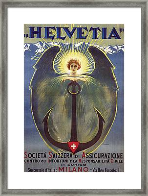 Helvetia Poster Framed Print by Umberto Boccioni