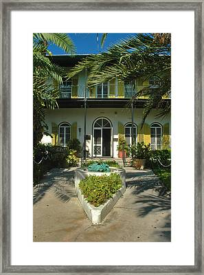 Hemingways House Key West Framed Print by Susanne Van Hulst