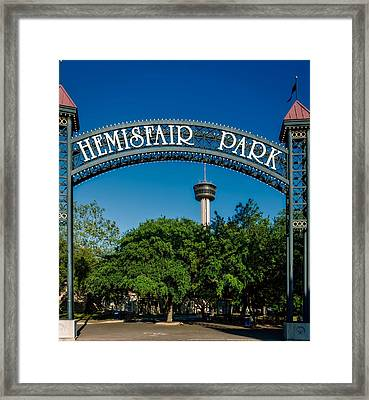 Hemisfair Park - San Antonio Framed Print by Mountain Dreams