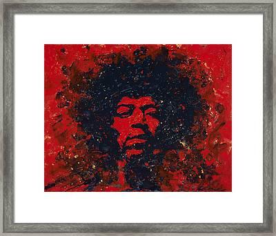 Hendrix Framed Print by Chris Mackie