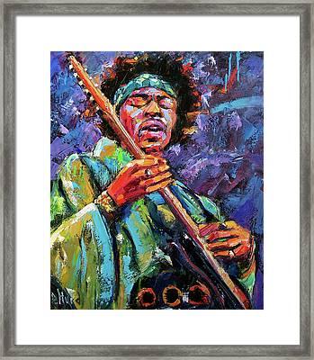 Hendrix Framed Print by Debra Hurd