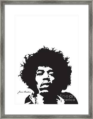 Hendrix No.01 Framed Print by Caio Caldas