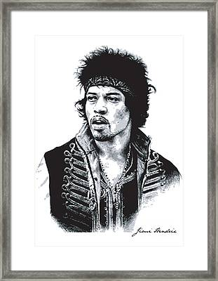 Hendrix No.02 Framed Print by Unknow
