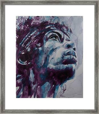 Hendrix Woodstock  Framed Print by Paul Lovering