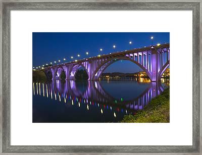 Henley Bridge In Knoxville Tn Framed Print by Mike McGlothlen