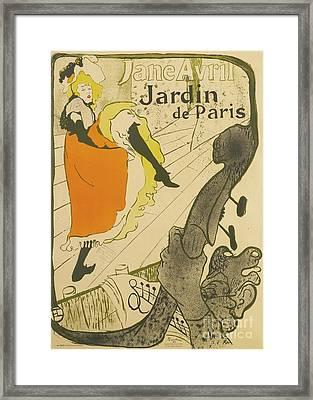 Henri De Toulouse Lautrec Framed Print by Jane Avril