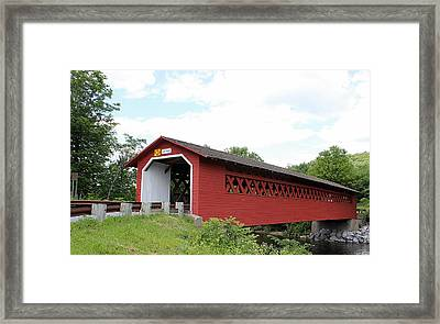 Henry Covered Bridge Framed Print by Wayne Toutaint