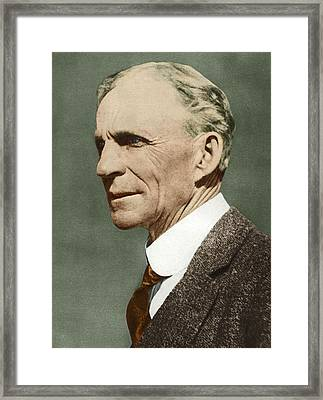 Henry Ford, Us Car Manufacturer Framed Print by Sheila Terry