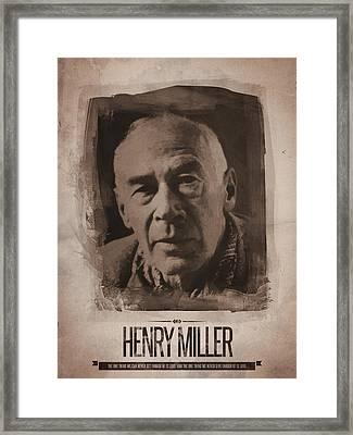 Henry Miller 01 Framed Print by Afterdarkness