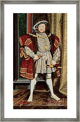 Henry Viii Framed Print by Hans Holbein the Younger