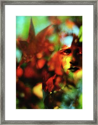 Her Autumn Eyes Framed Print by Rebecca Sherman
