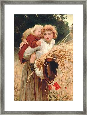 Her Constant Care Framed Print by Frederick Morgan