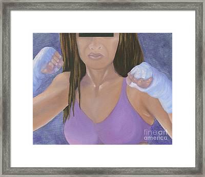 Her Fight Framed Print by Karen Feiling