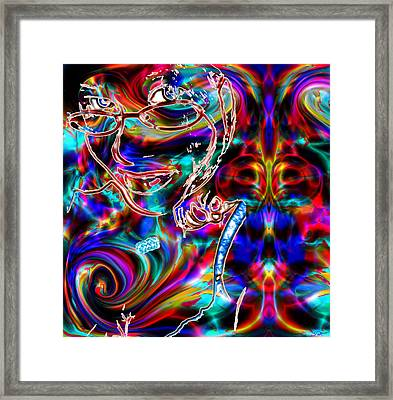 Her Love Is Delicious Framed Print by Abstract Angel Artist Stephen K