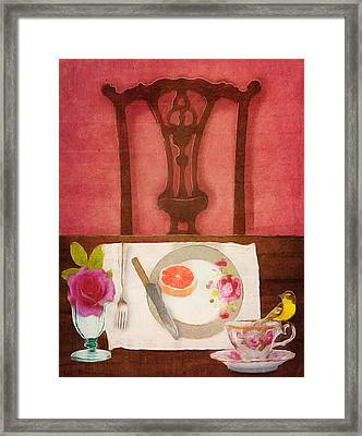 Her Place At The Table Framed Print by Lisa Noneman