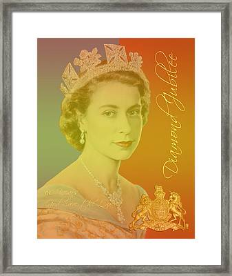 Her Royal Highness Queen Elizabeth II Framed Print by Heidi Hermes