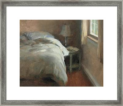 Her Side Framed Print by Anna Rose Bain