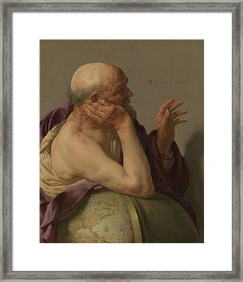 Heraclitus Framed Print by Hendrick Ter Bruggen