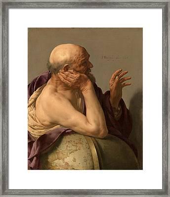 Heraclitus Framed Print by Hendrick ter Brugghen