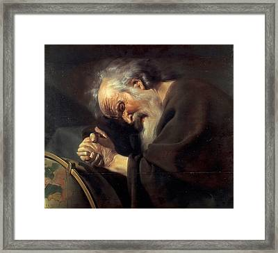 Heraclitus Framed Print by Johannes Moreelse