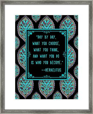 Heraclitus Wisdom Framed Print by Scarebaby Design