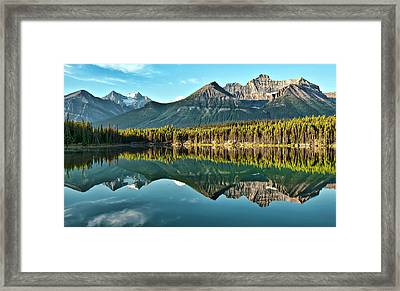 Herbert Lake - Quiet Morning Framed Print by Jeff R Clow