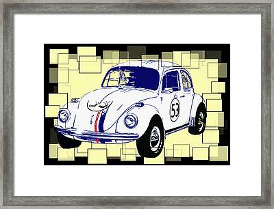 Herbie The Love Bug Framed Print by Bill Cannon