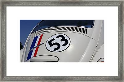 Herbie The Love Bug Framed Print by Rob Hans