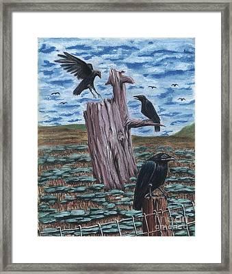 Here Come The Nieghbors Framed Print by Gail Finn