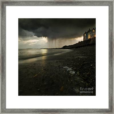 Here Comes The Rain Framed Print by Angel  Tarantella