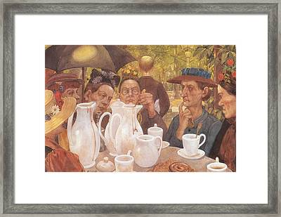 Here The Family Can Make Coffee Framed Print by Mountain Dreams
