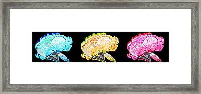 Here Today And Gone Tomorrow Triptych Framed Print by Angelina Vick