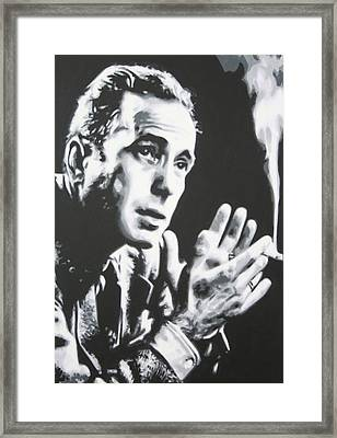 Heres Looking At You Kid Framed Print by Luis Ludzska