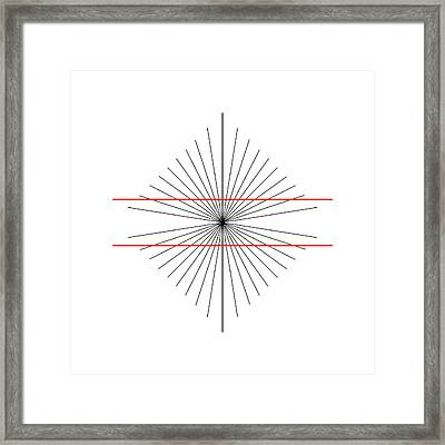 Hering Illusion Framed Print by