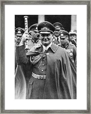 Hermann Goering 1893-1946, Holding Framed Print by Everett