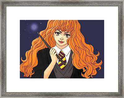 Hermione Granger  Framed Print by Jennifer Campbell