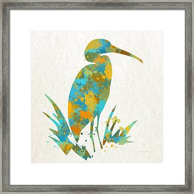 Heron Watercolor Art Framed Print by Christina Rollo