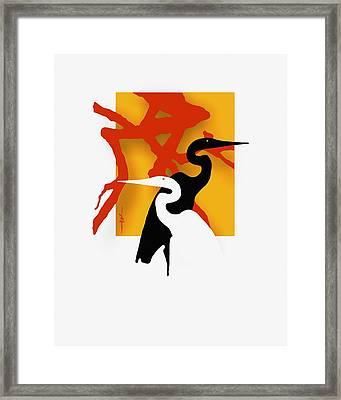 Herons  Framed Print by Bob Salo