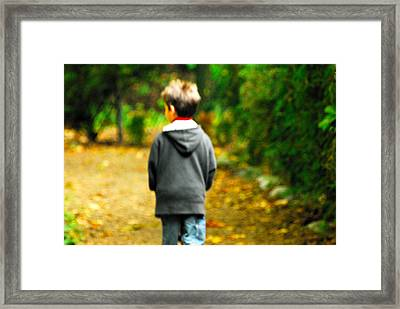 Hes Just A Lonely Boy Framed Print by Paul W Sharpe Aka Wizard of Wonders
