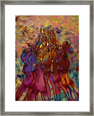 He's Worthy To Be Praised  Framed Print by Larry Poncho Brown