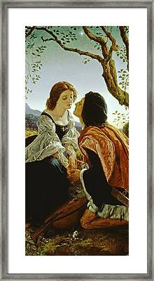 Hesperus The Evening Star Sacred To Lovers Framed Print by Sir Joseph Noel Paton