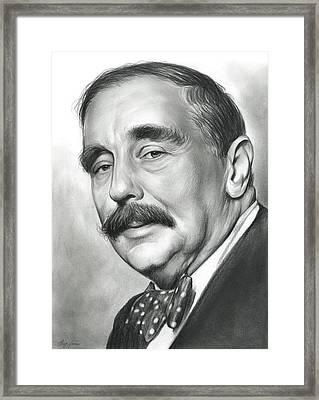 H.g. Wells Framed Print by Greg Joens