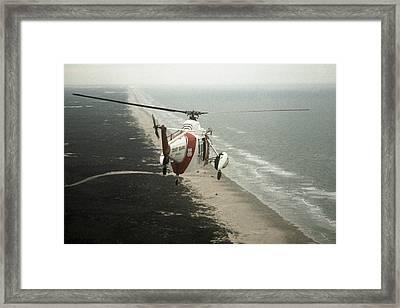 Hh-52a Beach Patrol Framed Print by Steven Sparks