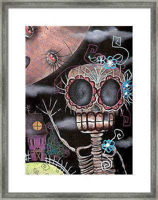 HI  Framed Print by  Abril Andrade Griffith